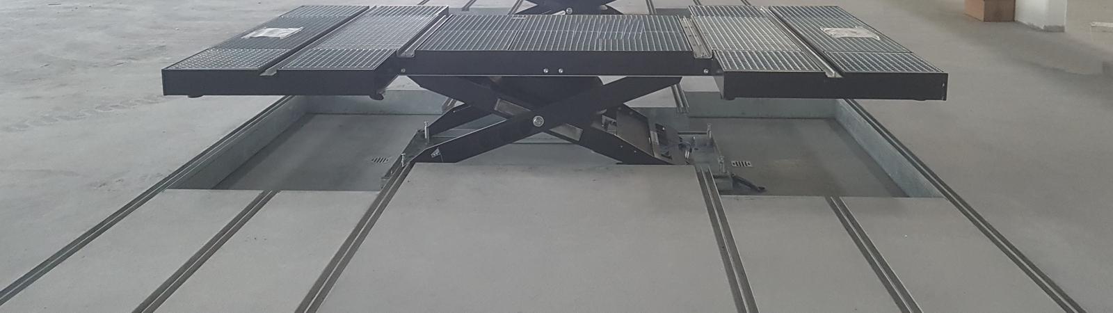 Powerlifter Hebebühne von Sehon Unterflur bodeneben
