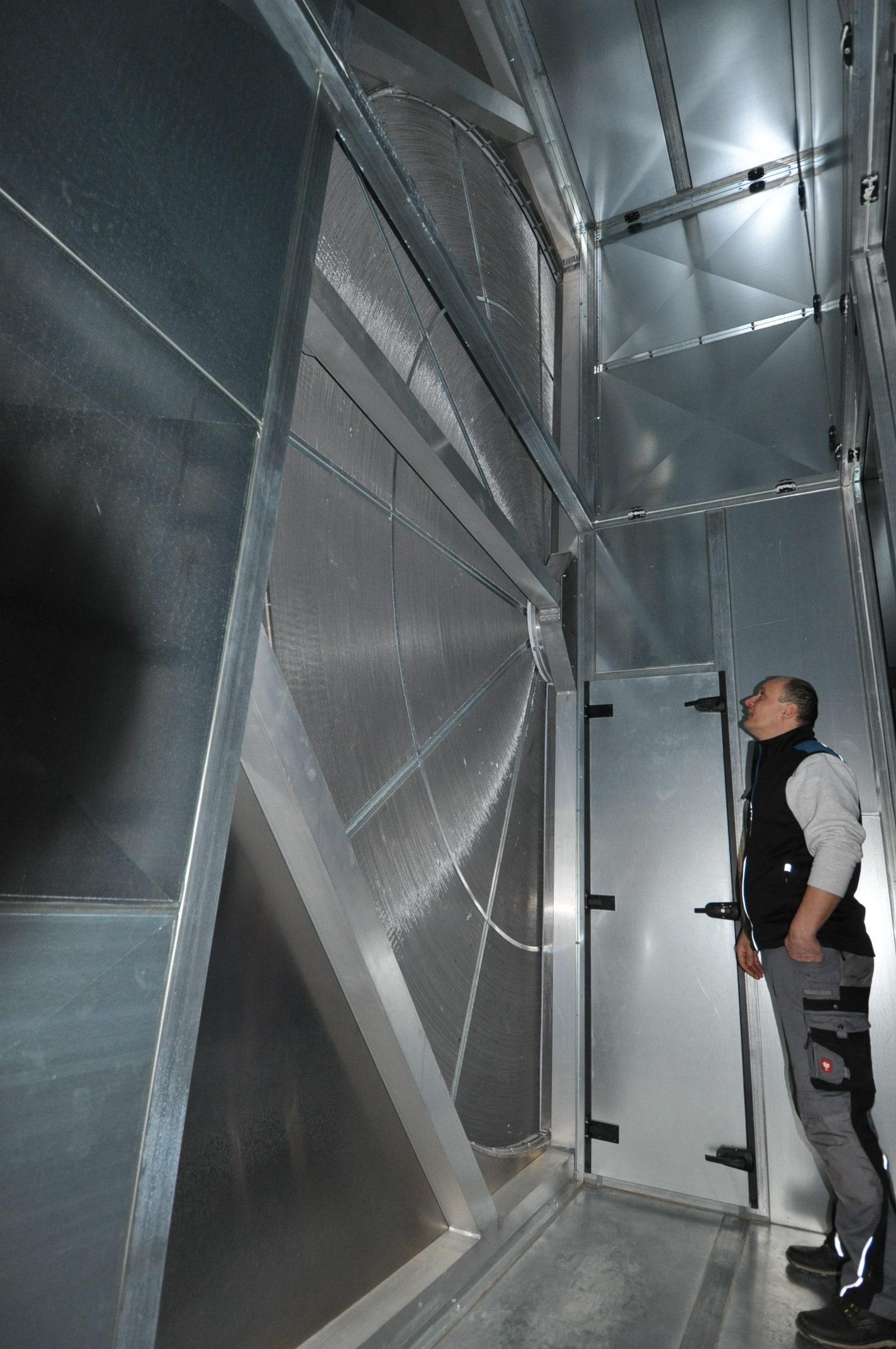 SEHON Rotationswärmetauscher in großer Dimension mit sehr hohem Wirkungsgrad.