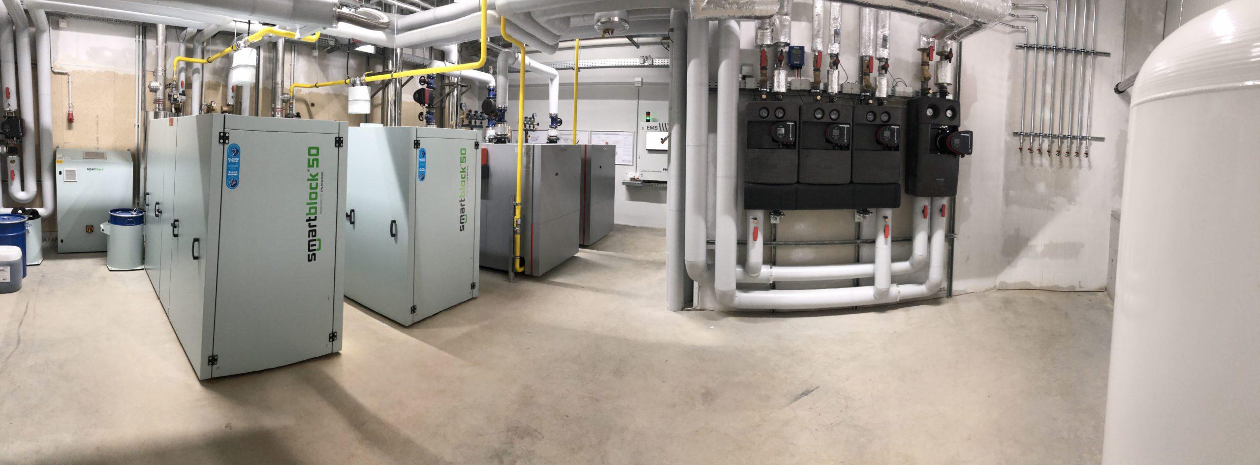 SEHON BHKW Technik mit Energie Management System