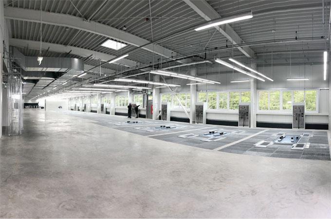 SEHON (v.l.n.r.) 4 Multiplätze - Teile Vorbereitung - Vbpl. mit Versorgungsterminals und Bodenabsaugung